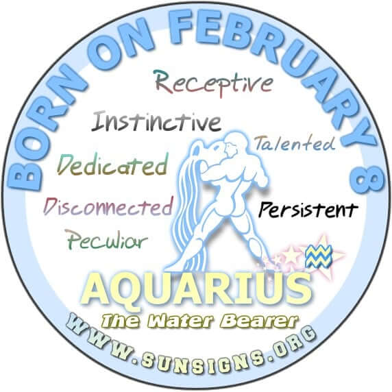 february 8 aquarius birthday horoscope analysis personality traits sun signs. Black Bedroom Furniture Sets. Home Design Ideas