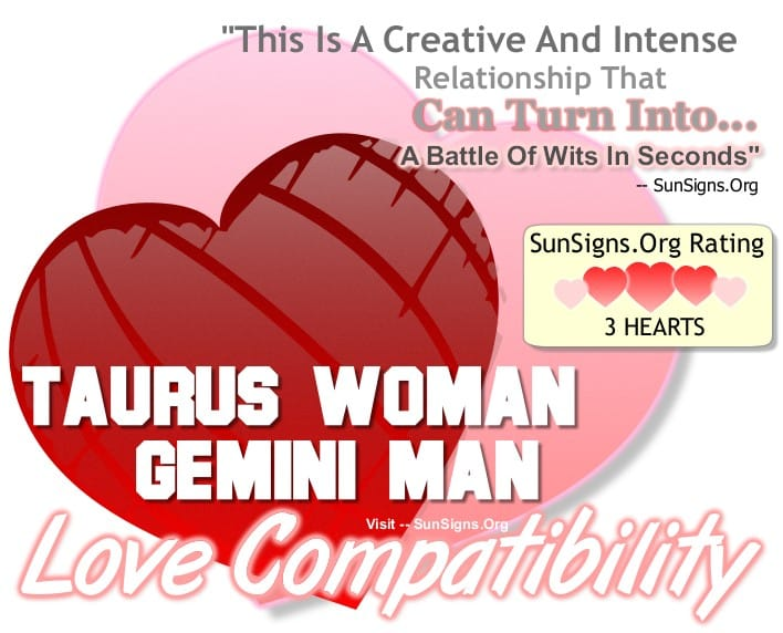 Taurus Woman Gemini Man A Creative Intense Match