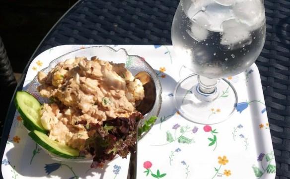 Lunch med tonfisk och ägg