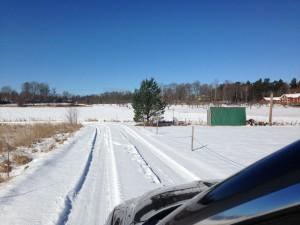 Vackert vinterväder igår, men inte vad vi vill ha nu.