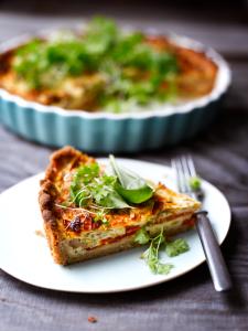 Mushroom and Tomato Pie