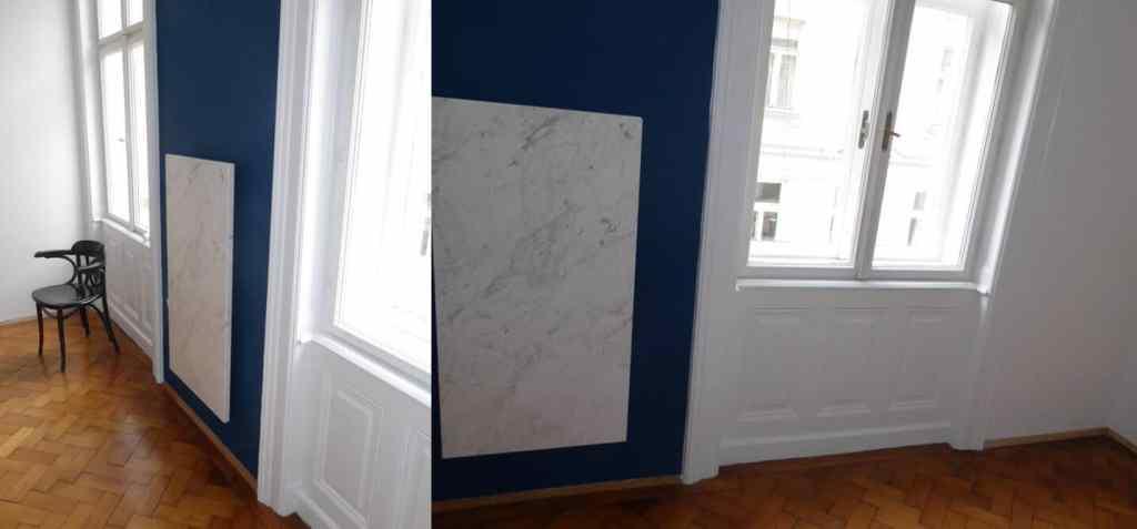 Infrarot Marmorheizung Wohnzimmer