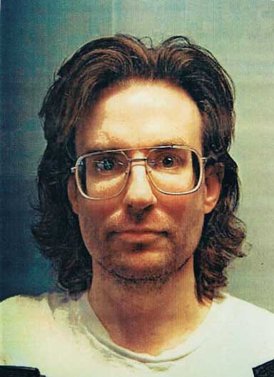 """Mug shot taken in 2001. About a year earlier, the Utah State Board of Pardons had ordered Hofmann held for his """"natural life."""""""
