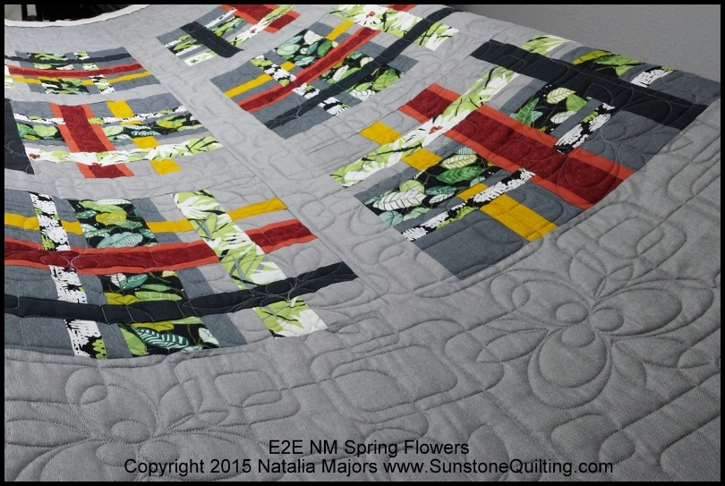 New patterns quilted