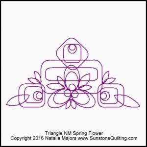 Triangle NM Spring Flower block (400x400)