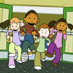 kids running to recess