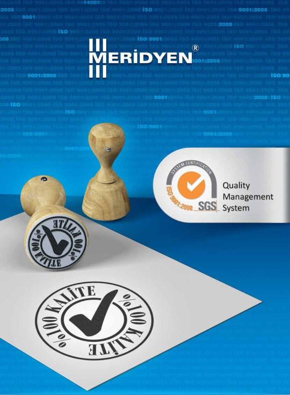 Meridyen Vida ISO9001 Vida Kalite Belgesi