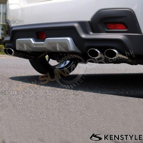 12 17 subaru xv gp kenstyle quad tip exhaust muffler