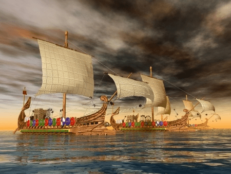 Ancient galley fleet