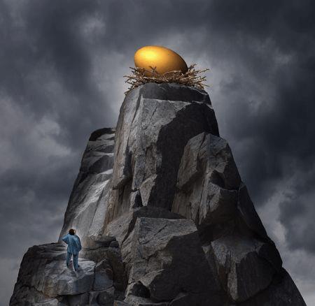Entrepreneur searching for the Golden Egg