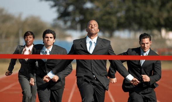 Win Win Business Team Running