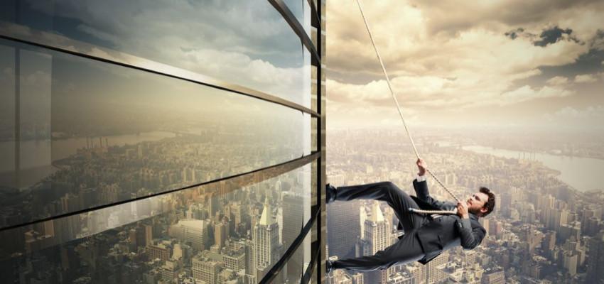 Business Sales - Man Climbing Building