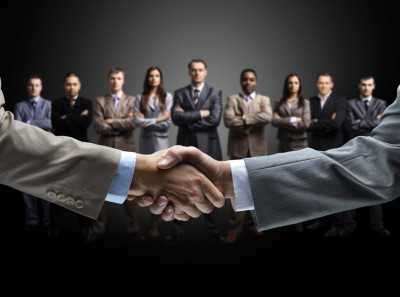 Sales Optimization Handshake trust business