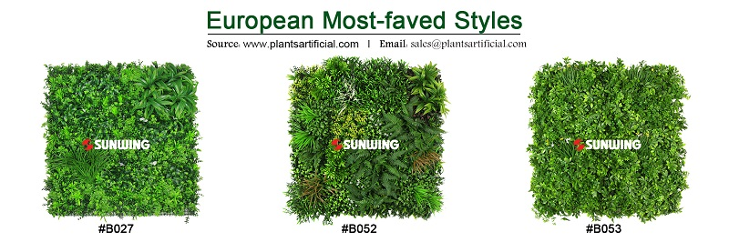european hotselling styles of green walls