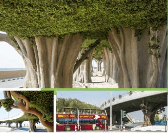 Dubai Palm Bridge Greening