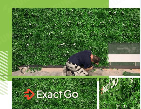 LOGO plants Wall Backdrop