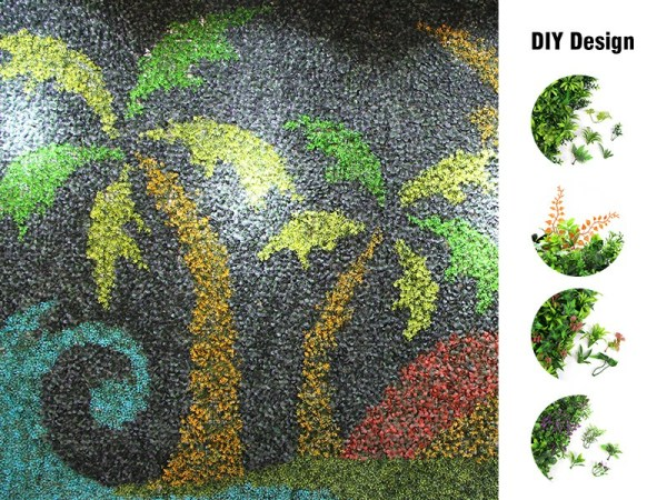 DIY idea for artificial plants wall