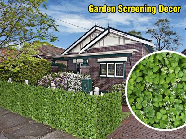 artificial hedge screening used for garden decor