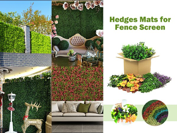 hedges mats for fence screen