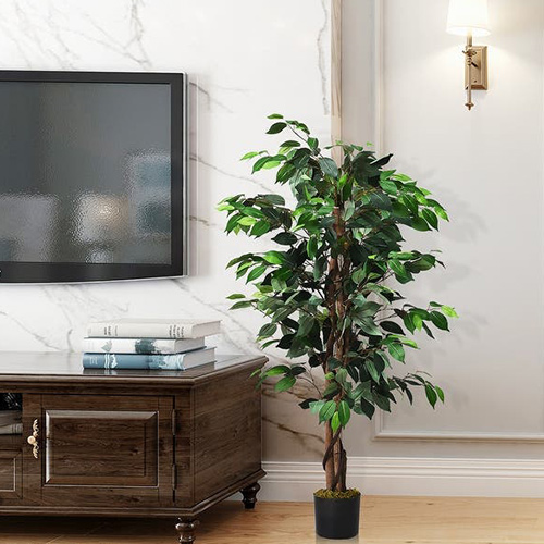 Decorate Interiors with Classic Artificial Ficus Tree Plant