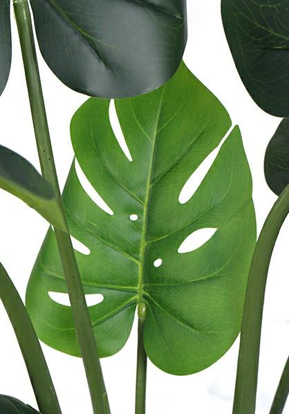 artificial monstera pots stem details sunwing