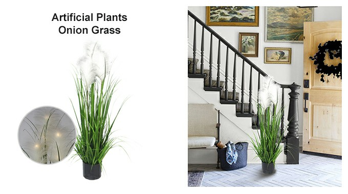 artificial onion grass indoor decor