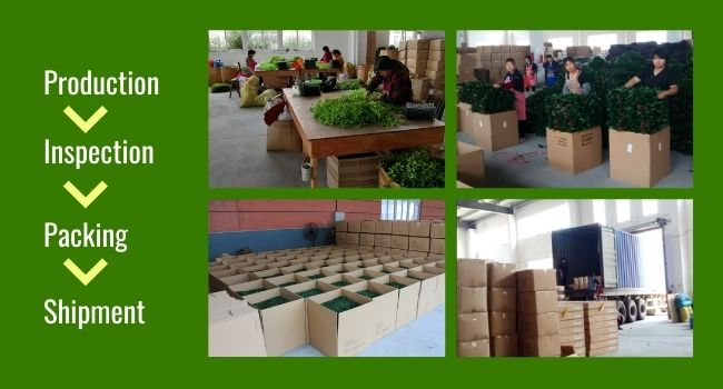quality control for artificial plant suppliers
