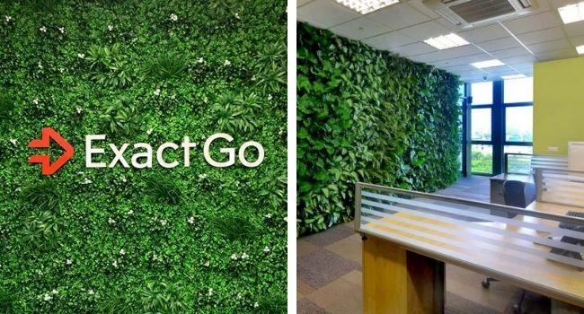 office buildings benefit from artificial garden walls