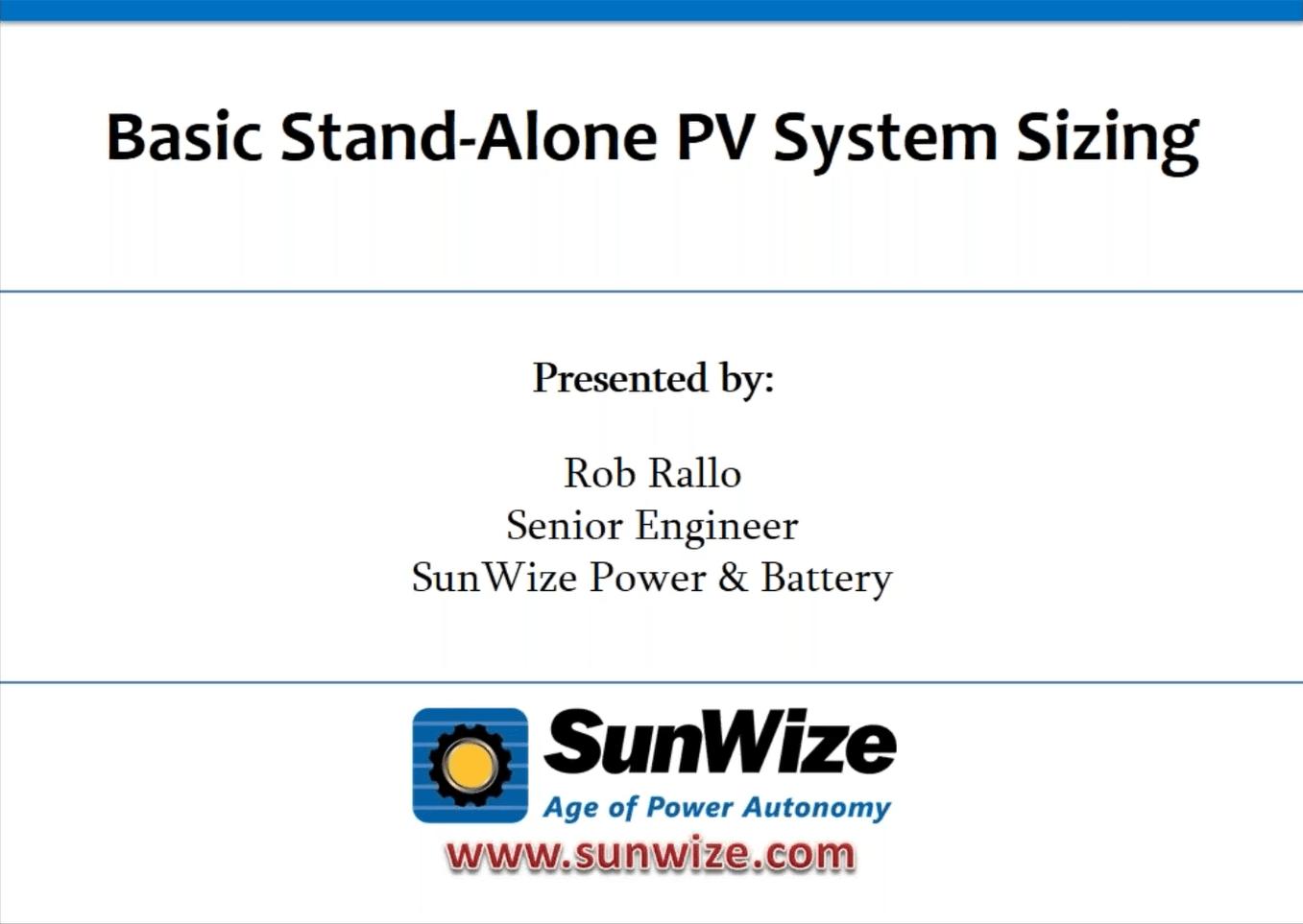 Pv System Pv System Sizing Worksheet