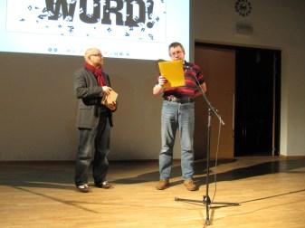 Suomen PEN Tallinnassa 23.11.2011. Jarkko Tontti ja Peeter Sauter