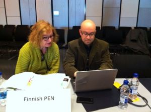 Marianne Bargum & Jarkko Tontti Reykjavikin kongressissa. Kuva: Tiina Lehtoranta