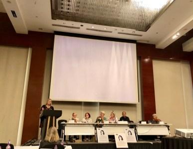 (Suomi) Vpj Veera Tyhtilä puhuu yleiskokoukselle.