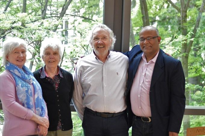 Mojibur with Scottish PEN team led by its president Carl MacDougall. Photo: Scottish PEN