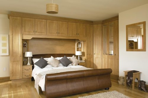 Modern oak fitted bedroom