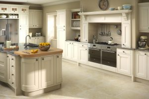 Bespoke kitchens. Traditional oak putty finish