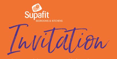 New kitchen showroom in Sheffield - invitation