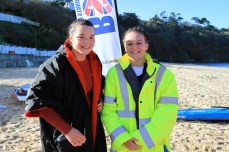 Maia Graner and Summer Whitely at Carbis Bay