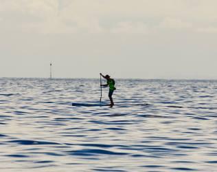 Jersey ripper Arron Rowe out in open water.