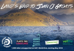 Paddle Against Plastic - Lands End to John O'Groats 2018