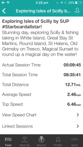 Starboard paddler Marie Buchanan Scilly Island SUP