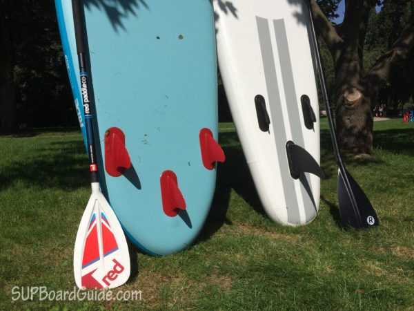 Comparing the Ride Thruster fins to the iRocker 2+1 setup