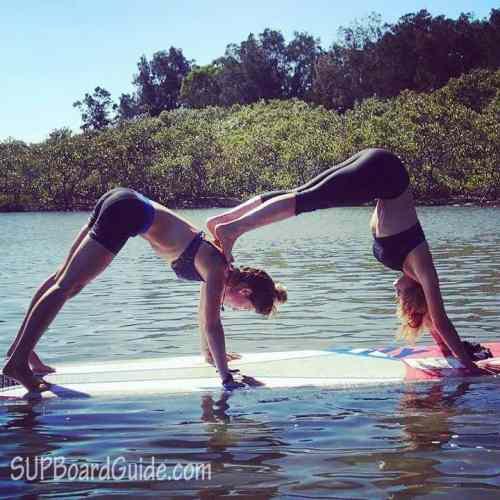 Downward Facing Dog Stand Paddle Board Yoga
