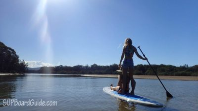 Two girls on a SUP