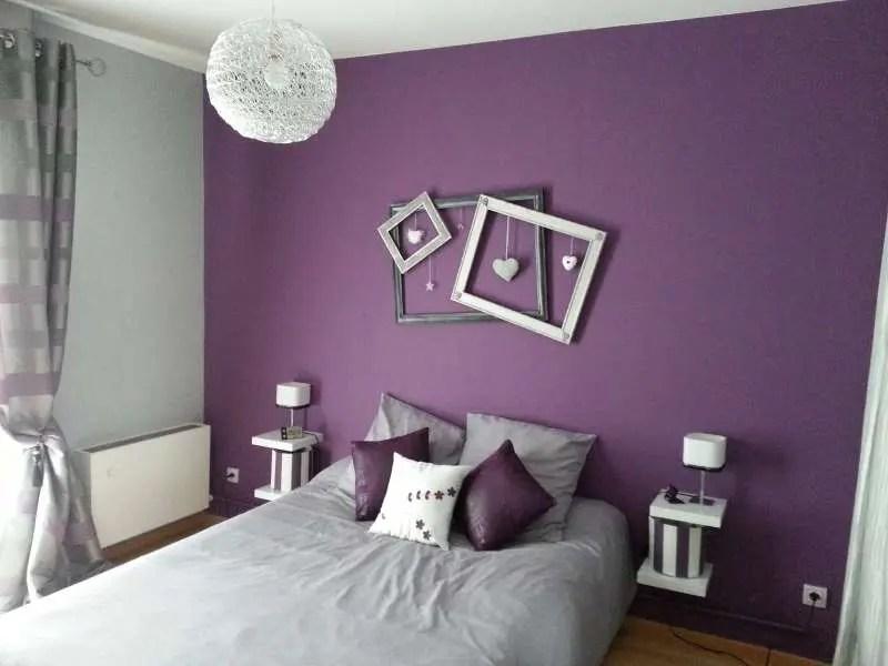 D233coration De Chambre Avec Couleur Prune Super D233co