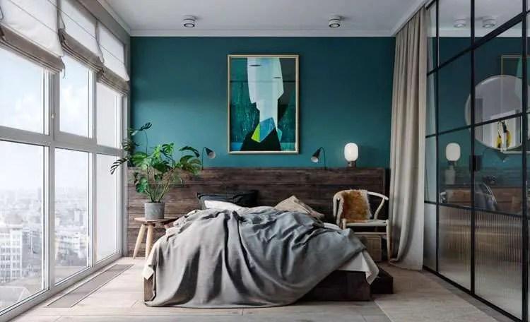Chambre Bleu Canard Lumineuse Super Dco