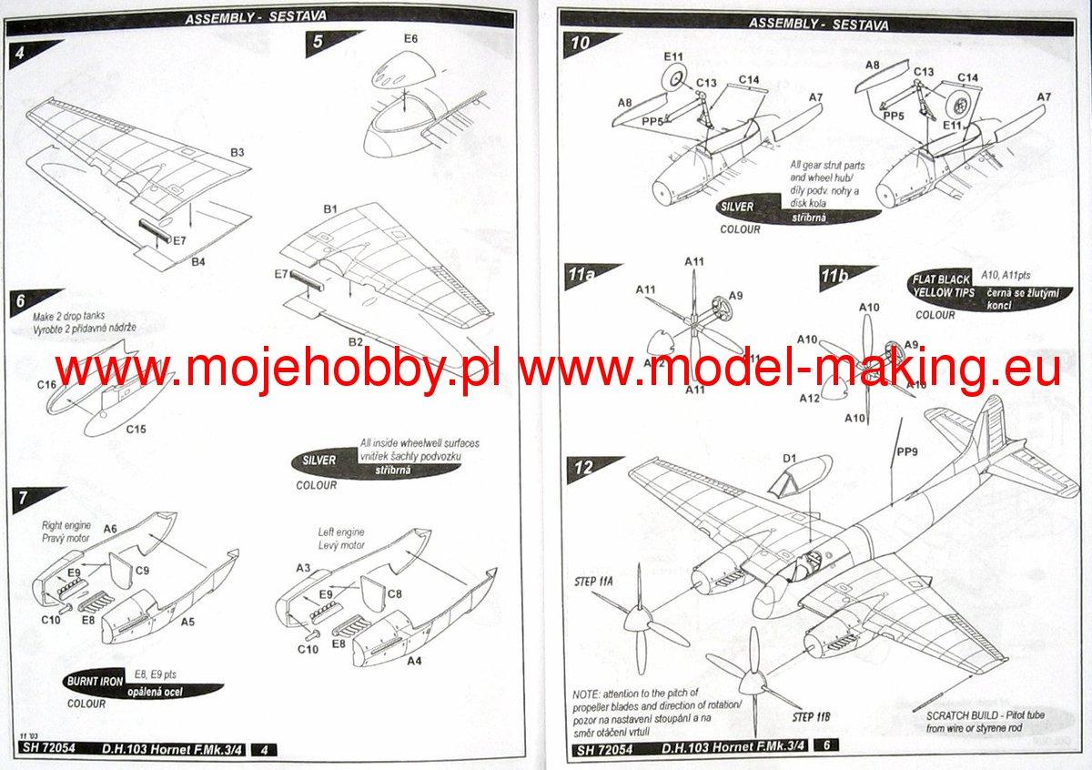 D H 103 Hornet Mk 3 4 Special Hobby