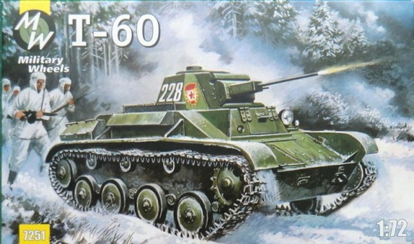 Soviet light tank T-60 Military Wheels 7251