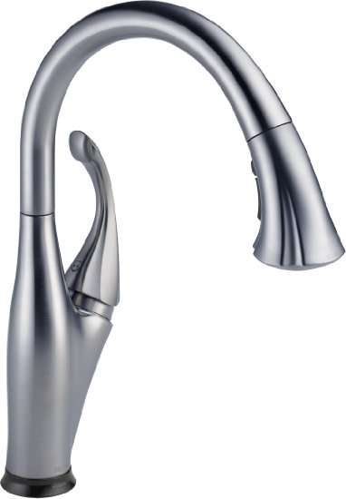 Delta Faucet 9192T-AR-DST Addison Single Handle Pull-Down Kitchen Faucet with Touch2O Technology