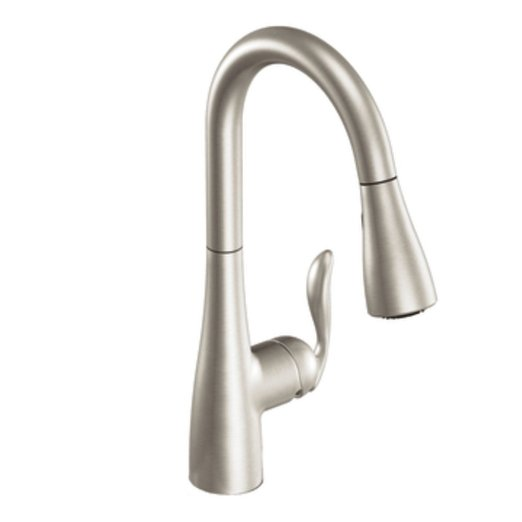 Charming Moen 7594CSL Arbor One Handle High Arc Pulldown Kitchen Faucet ...
