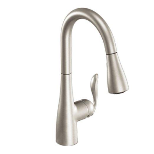 Moen 7594CSL Arbor One Handle High Arc Pulldown Kitchen Faucet ...